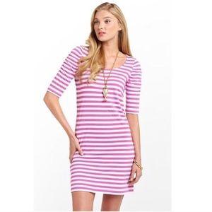 Lilly Pulitzer Kaley Dress-Pansy Purple Stripe